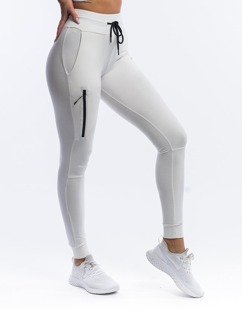 price reduced largest selection of temperament shoes Ladies Force Joggers - White