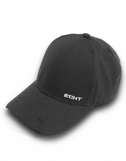 Echt Distressed Cap - Black