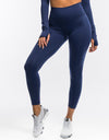 Echt Flex Scrunch Leggings - Navy Stripe