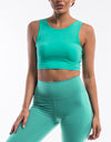 Echt Icon Crop Top - Aqua