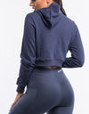 Echt Ladies Tapered Hoodie - Dark Blue