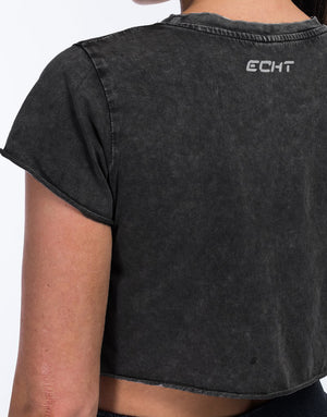 Echt Wash Cropped Tee - Black
