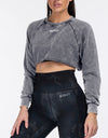 Echt Wash Cropped Jumper - Grey