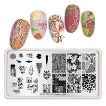 Load image into Gallery viewer, BORN PRETTY Rectangle Nail Stamping Plates Marble Texture Ink Stainless Steel Template Nail Art Image Texture  DIY Plate Tools