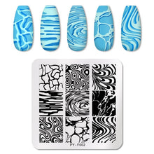 Load image into Gallery viewer, PICT YOU 12*6cm Nail Art Templates Stamping Plate Design Flower Animal Glass Temperature Lace Stamp Templates Plates Image