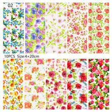 Load image into Gallery viewer, 10 Sheets Nail Transfer Foil Marble Nail Art Stickers Retro Pattern Nail Art Decals DIY Nails Accessories 4*100cm