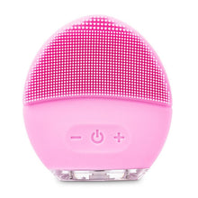 Load image into Gallery viewer, Skin Care Tools Mini Electric Vibrator Massager Facial Cleansing Brush Sonic Face Silicone Clean Beauty Foreoing Machine