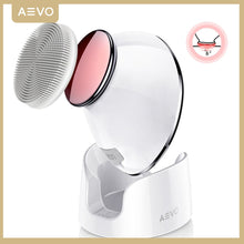Load image into Gallery viewer, AEVO Facial Cleansing Brush Face Skin Care Brushes 2 in 1 Heated Massager Sonic Vibrations Deep Cleaning Electric Face Cleanser
