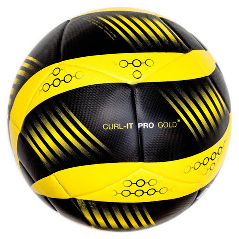 Bend-It Soccer, Curl-It Pro Gold, Soccer Ball Size 5, Match Ball