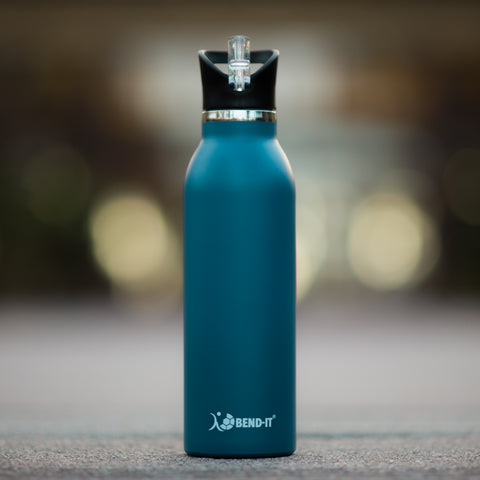 Bend-It The Coldest Water Bottle, Stainless Steel Sports Water Bottle Blue