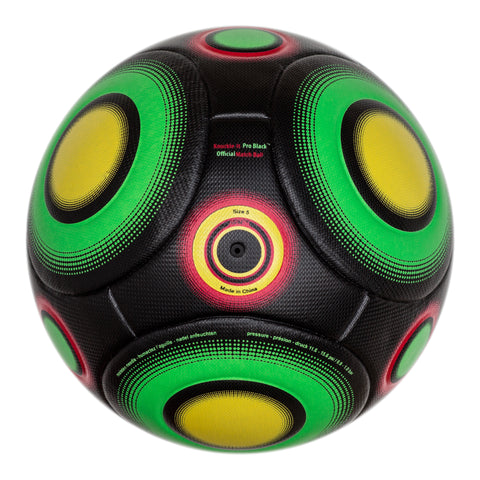 Bend-It Soccer, Knuckle-It Pro Black, Soccer Ball Size 5, Official Match Ball