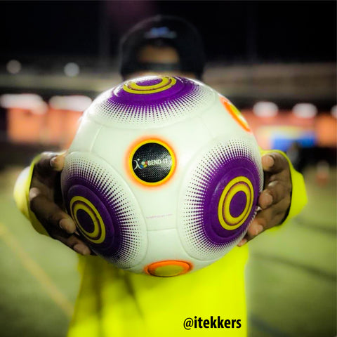 Bend-It Soccer, Knuckle-It Pro Purple, Soccer Ball Size 5, Match Ball