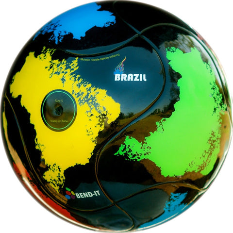 Bend-It Soccer, Brazil-It, Soccer Ball Size 5, Brasil Training Ball