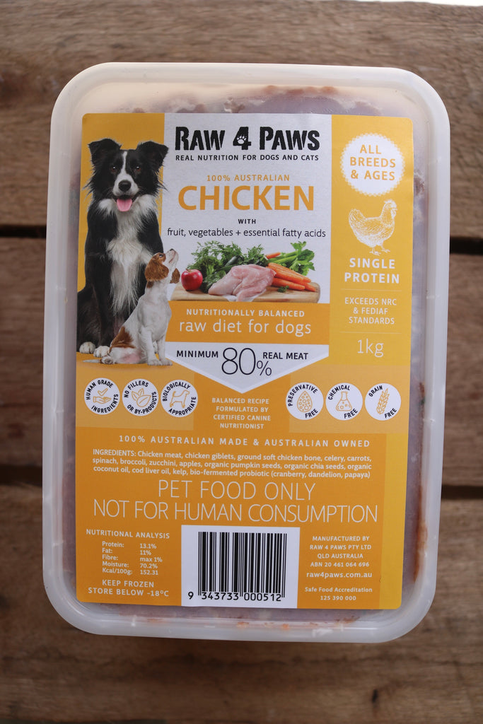 Raw 4 Paws Chicken 1kg Container