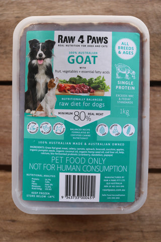 Raw 4 Paws Goat 1kg Container **limited supply**