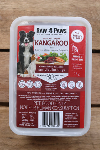 Raw 4 Paws Kangaroo 1kg Container**LOW SUPPLY**