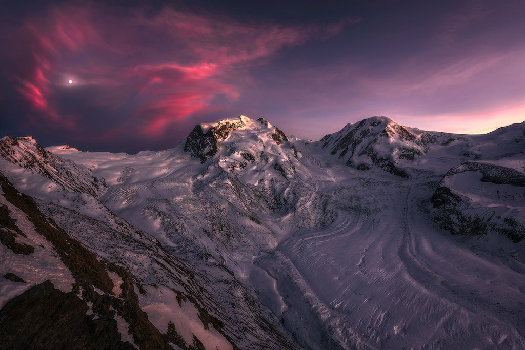 Rose of the Alps. Monte Rosa by Isabella Tabacchi. Nature Fine Art Prints by Isabellandscapes