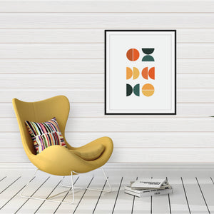 Mid-Century Modern Abstract Print: Abstract wall art by Culver and Cambridge
