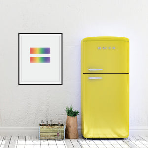 Rainbow Equality Print: Pride wall art by Culver and Cambridge