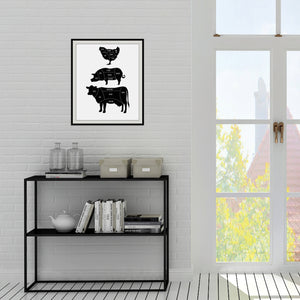 The Vegan Butcher Print: Vegan wall art by Culver and Cambridge