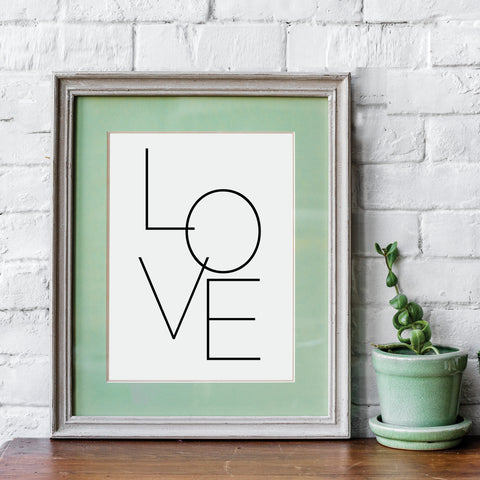Love Abstract Printable - Modern and Minimalist Wall Art by Culver and Cambridge