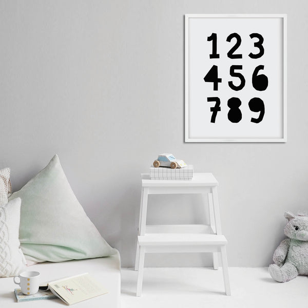 123 Nursery Print: Modern Art Prints by Culver and Cambridge