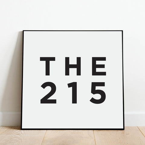 The 215 - Philadelphia Area Code Print: Modern Art Prints by Culver and Cambridge
