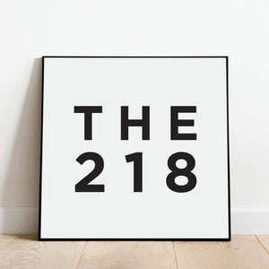 The 218 - Minneapolis Area Code Print: Modern Art Prints by Culver and Cambridge
