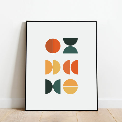 Mid Century Modern Abstract Print: Modern Art Prints by Culver and Cambridge
