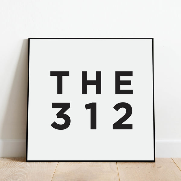 The 312 - Chicago Area Code Print: Modern Art Prints by Culver and Cambridge