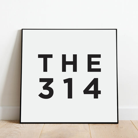 THE 314 - St Louis Area Code Print: Modern Art Prints by Culver and Cambridge
