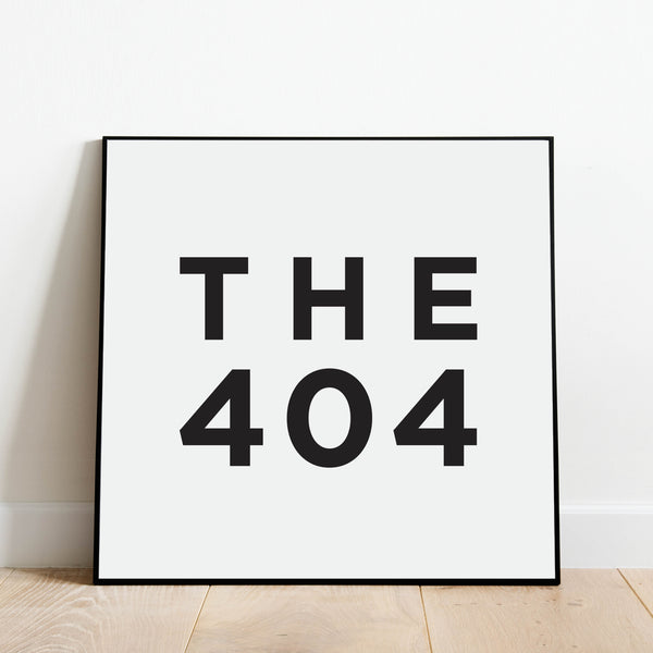 The 404 - Atlanta Area Code Print: Modern Art Prints by Culver and Cambridge