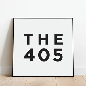 The 405 - Oklahoma Area Code Print: Modern Art Prints by Culver and Cambridge