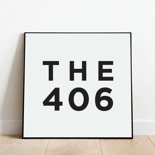 The 406 - Montana Area Code Print: Modern Art Prints by Culver and Cambridge