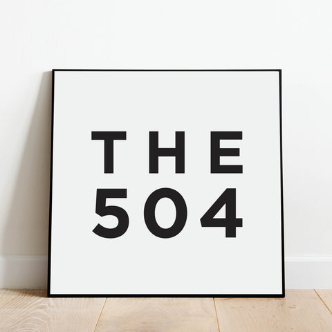The 504 - New Orleans Area Code Print: Modern Art Prints by Culver and Cambridge