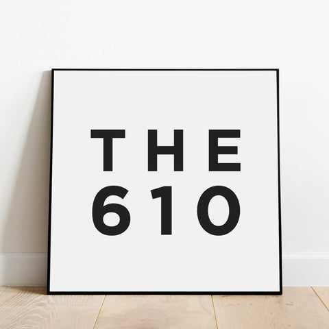 The 610 - Pennsylvania Area Code Print: Modern Art Prints by Culver and Cambridge