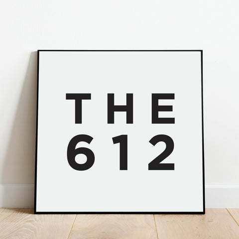 The 612 - Minneapolis Area Code Print: Modern Art Prints by Culver and Cambridge