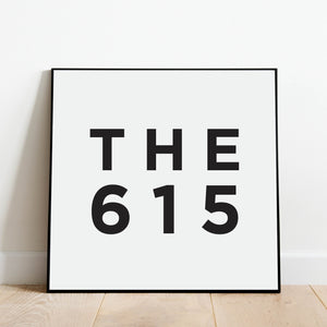 THE 615 - Nashville Area Code Print: Modern Art Prints by Culver and Cambridge