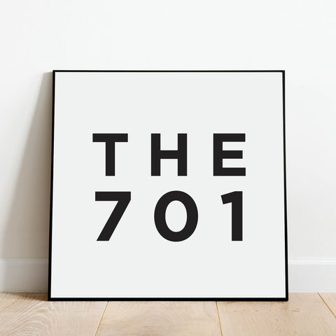 The 701 - North Dakota Area Code Print: Modern Art Prints by Culver and Cambridge