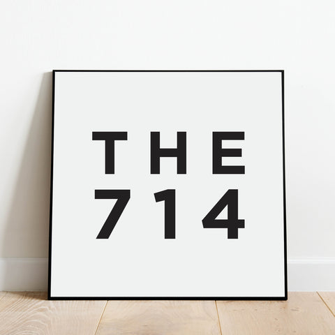 The 714 - Orange County Area Code Print: Modern Art Prints by Culver and Cambridge