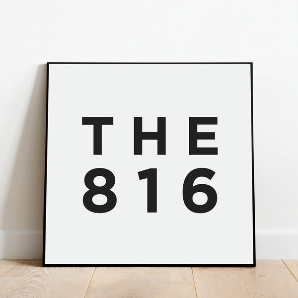 The 816 - Kansas City Area Code Print: Modern Art Prints by Culver and Cambridge
