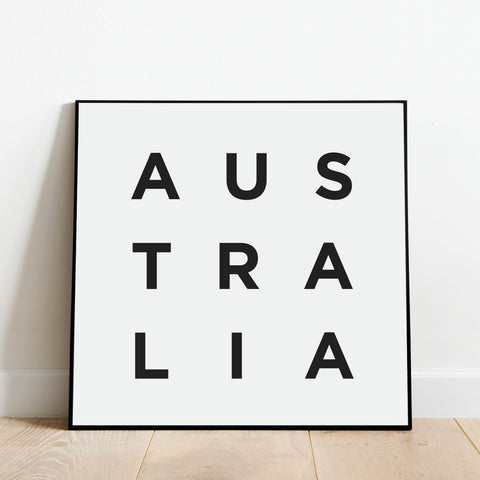 Minimalist Australia Print: Modern Art Prints by Culver and Cambridge