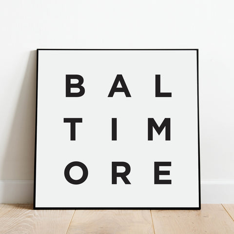 Minimalist Baltimore Print: Modern Art Prints by Culver and Cambridge