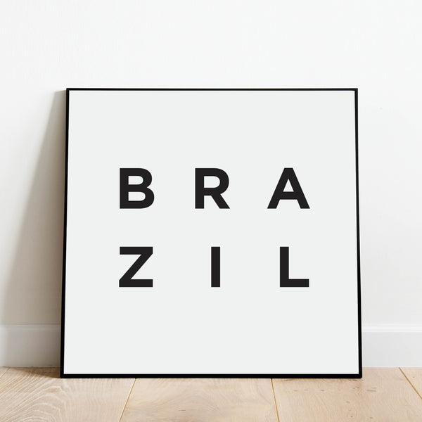 Minimalist Brazil Print: Modern Art Prints by Culver and Cambridge
