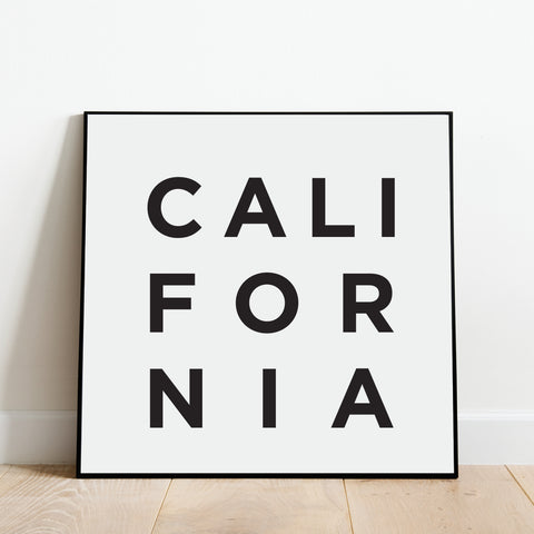 Minimalist California Print: Modern Art Prints by Culver and Cambridge