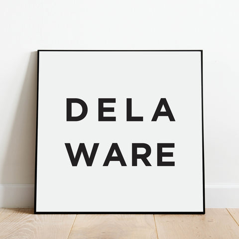 Minimalist Delaware Print: Modern Art Prints by Culver and Cambridge