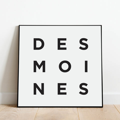 Minimalist Des Moines Print: Modern Art Prints by Culver and Cambridge