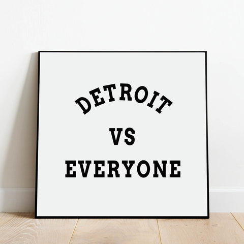 Detroit vs Everyone Print: Modern Art Prints by Culver and Cambridge
