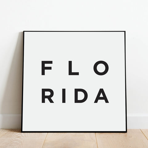 Minimalist Florida Print: Modern Art Prints by Culver and Cambridge
