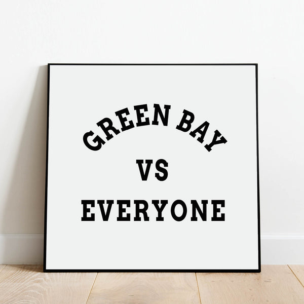 Green Bay vs Everyone Print: Modern Art Prints by Culver and Cambridge